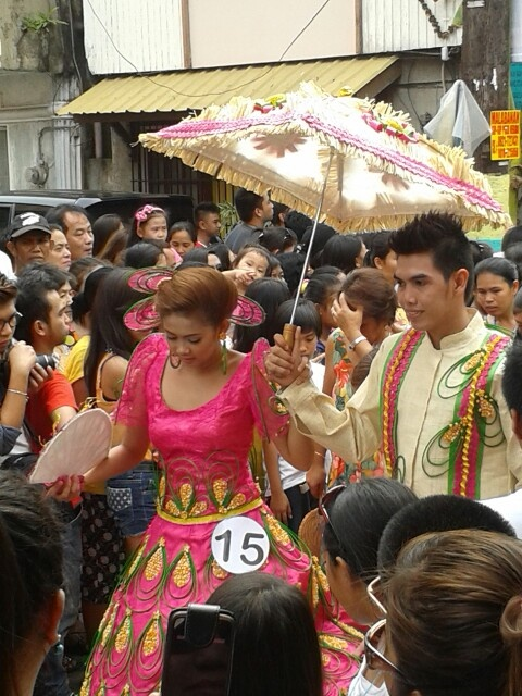 Gown inpired by the Pahiyas Festival