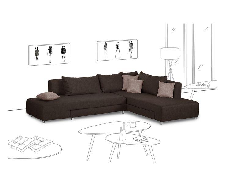 oltre 25 fantastiche idee su marrone soggiorno su pinterest divano arredamento marrone. Black Bedroom Furniture Sets. Home Design Ideas