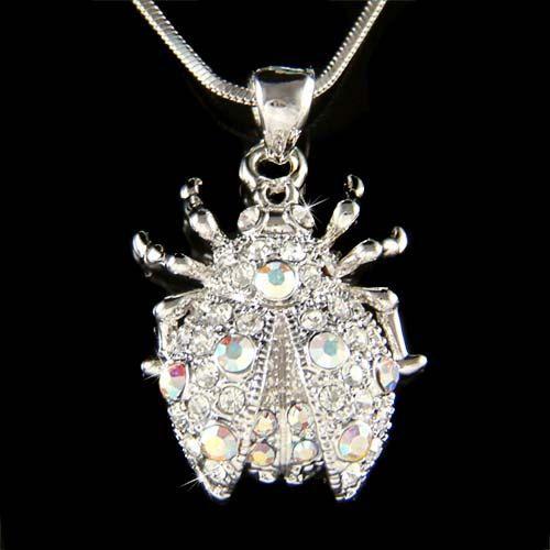 Swarovski Crystal Lady Bug Ladybug Ladybird insect by Kashuen, $38.00
