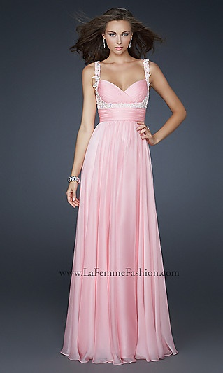 La Femme Floor Length Gown at SimplyDresses.com