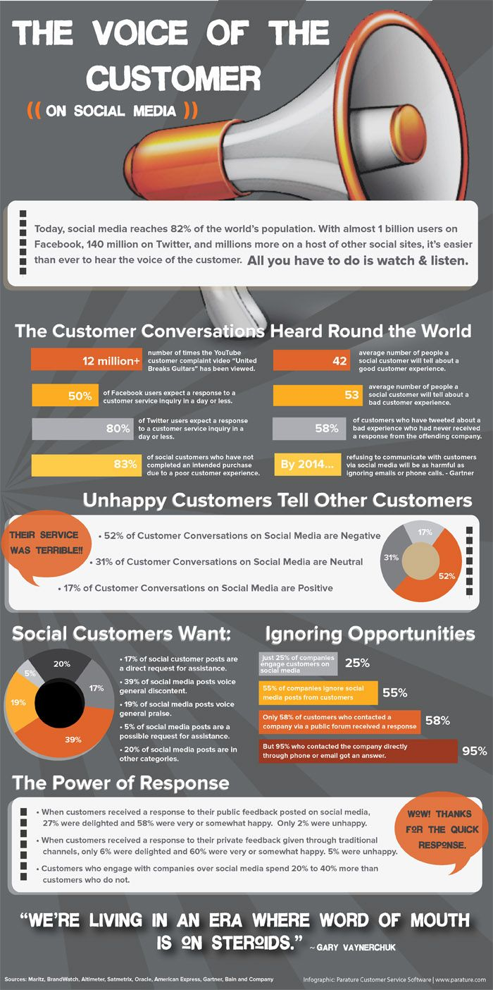 Voice of social customer infographic