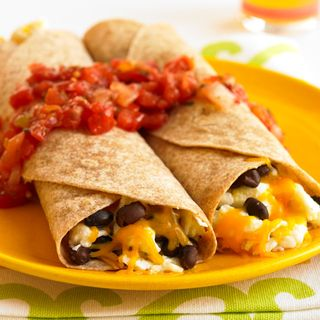 Savory Breakfast Burrito http://www.womenshealthmag.com/weight-loss/healthy-breakfast-recipes?slide=25