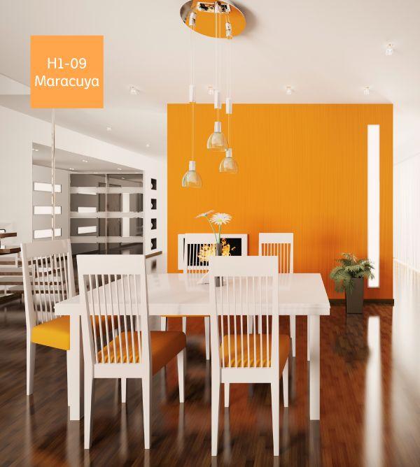M s de 25 ideas fant sticas sobre salas naranja en - De que color pintar el comedor ...
