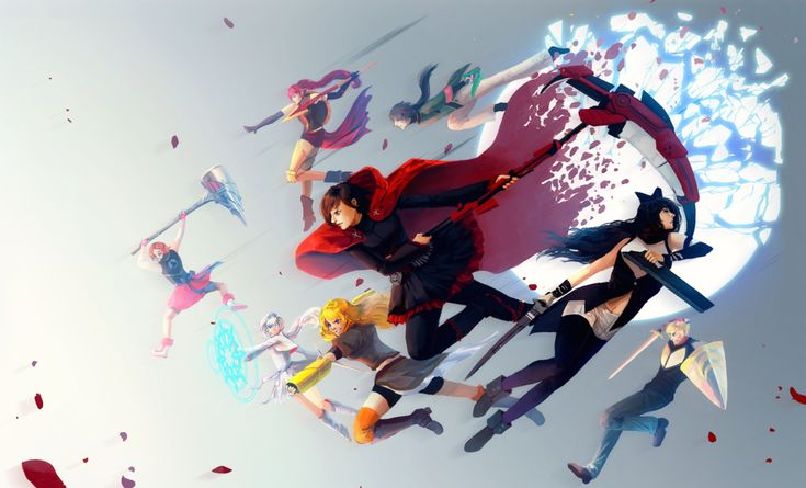 Ruby is Chrom, Blake is Lucina, Jaune is Flavia, Yang is Sumia, Weiss is Tharja, Nora is Vaike, Ren is Tiki, and Pyrrha is Virion?? Or maybe Say'ri but she looks more like Virion in the pose