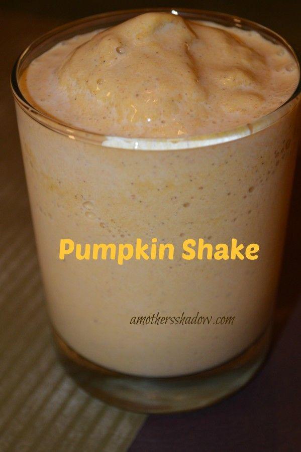 Recipe for pumpkin shake and pumpkin smoothie