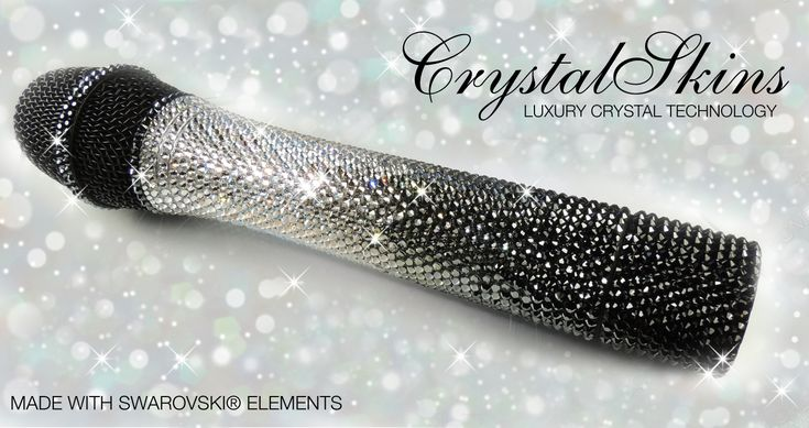 Crystal bling sparkly microphone made with Swarovski ...