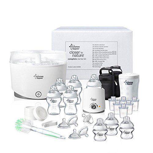 NEW Tommee Tippee Complete Starter Kit BOTTLES Baby Nursery Feeding Newborn 0+