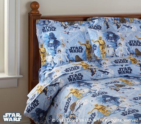 My little girl is totally getting these when she's older- who says Star Wars sheets are only for boys?