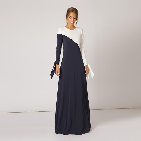 c9a9539dbd47 Vestido Sasa Azul Marino / Blanco SS19 en 2019 | Moda boda y fiesta ...