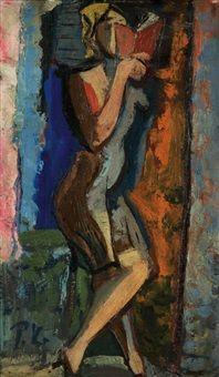Čtenářka, 1930  Pravoslav Kotík (1889, †1970 v Praze) byl český malíř a grafik.