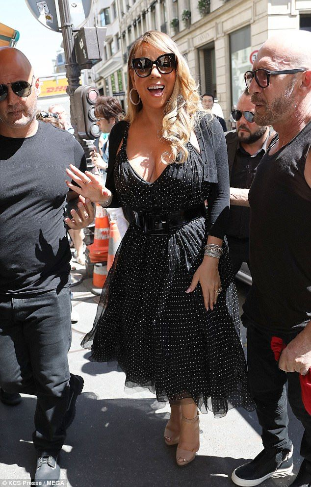 "Make like Mariah in a cropped cardigan by Azzedine Alaïa Click ""Visit"" to buy   #DailyMail"