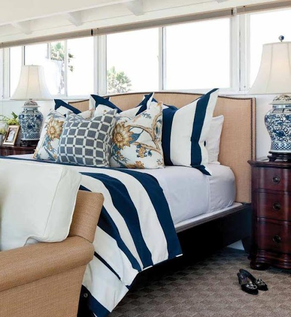 Love The Bedding For The Nautical Delorme Designs: Barclay Butera Nautical  Bedroom Part 75