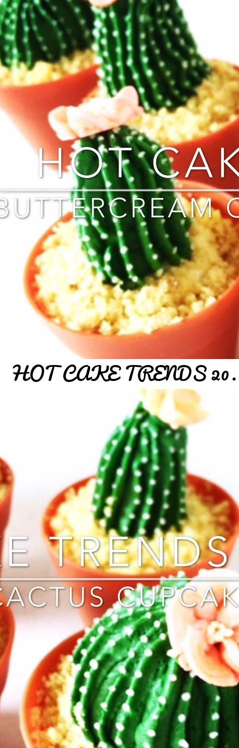 HOT CAKE TRENDS 2016 Buttercream Cactus cupcakes | Cacti cupcakes - How to make by Olga Zaytseva... Tags: Buttercream Cactus cupcakes, How to make buttercream cactus cupcakes, How to make buttercream cactus flowers, cake decorating tutorial, how to, howto, how-to, DIY, buttercream flowers, how to pipe buttercream cactus flowers, buttercream cactus flowers tutorials, summer cactus cupcakes, sommer trends, HOT CAKE TRENDS, HOT CAKE TRENDS 2016, HOT CAKE TRENDS 2016 Buttercream Cactus cupcakes…