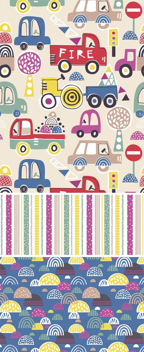 wendy kendall designs – freelance surface pattern designer » fire truck