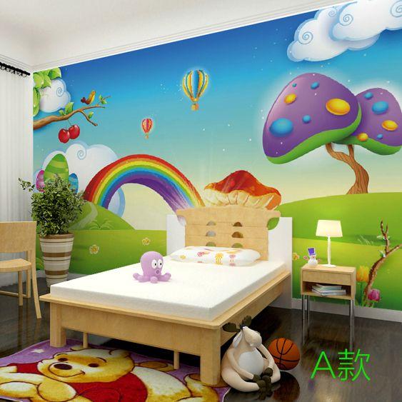 Pas cher 3D stéréo arc en papier peint enfants chambre toute transparente grande fresque papier peint Qiangbu chambre, Acheter  Fonds d'écran de qualité directement des fournisseurs de Chine:s'il vous plaît Type savoirbienvenue à notre magasin!   Note: (s'il vous plaît lire avant ordre)&nbs