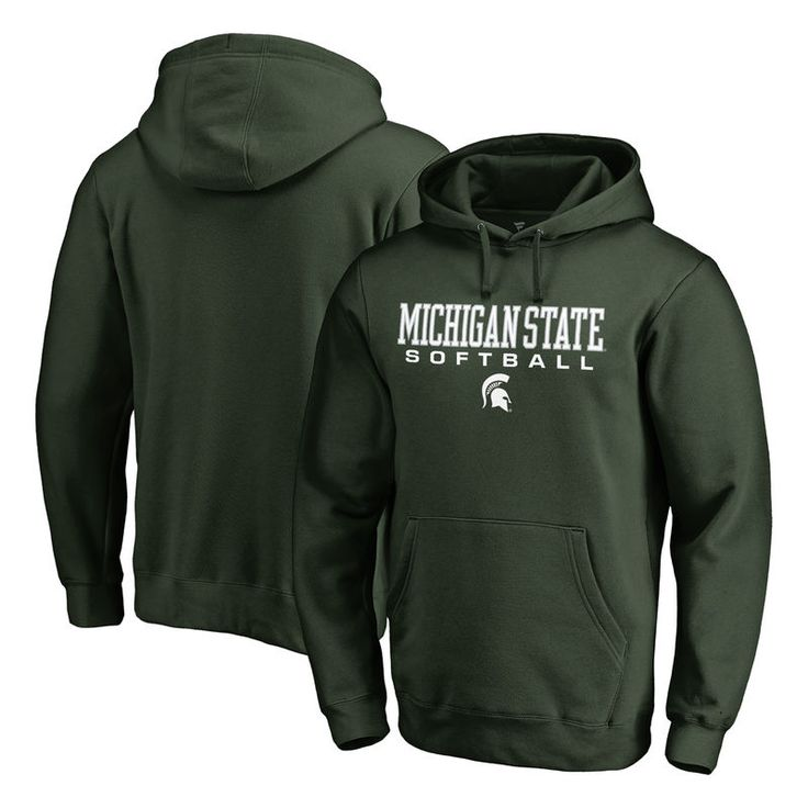 Michigan State Spartans Fanatics Branded True Sport Softball Pullover Hoodie - Green