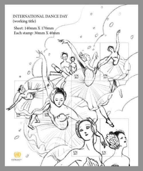 UNPS International Dance Day StampsVicto NgaiLike many HK grown...