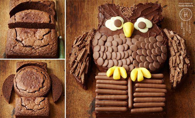 Chocolate owl cake