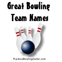 Witty Bowling Team Names