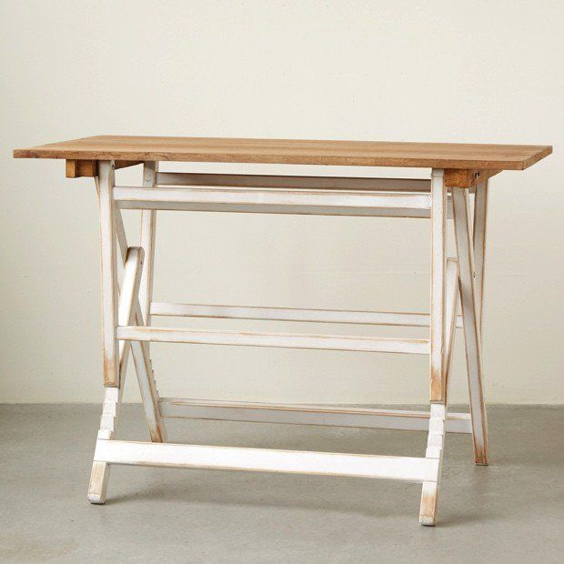 Pine Wood Adjustable Height Table