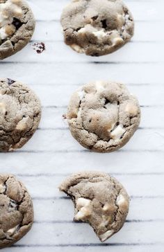 marshmallow chocolate chip cookies #food