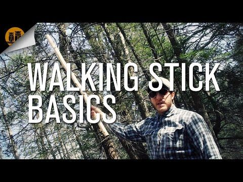 how to make a walking staff