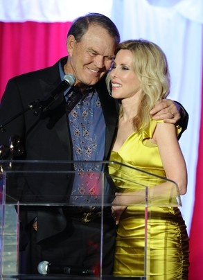 Glen Campbell & Kimberly Woolen attended Jane Seymour's 2nd annual Open Hearts Foundation Celebration