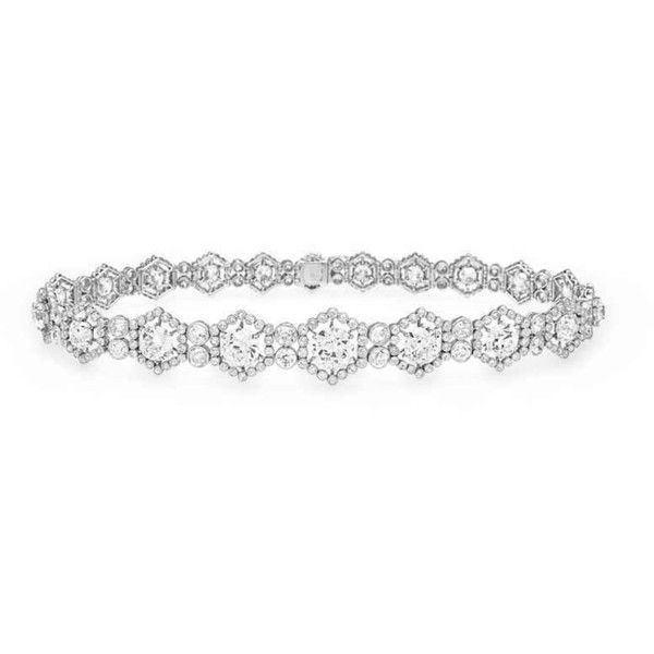 A BELLE ÉPOQUE DIAMOND CHOKER NECKLACE, BY CARTIER ❤ liked on Polyvore featuring jewelry, necklaces, diamond jewellery, choker jewelry, diamond necklace, epoque and diamond choker