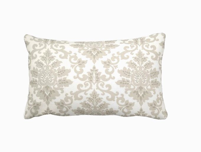 Taupe Throw Pillow Cover Taupe Pillow Cover Beige Pillows Damask Pillows Lumbar Pillows Decorative Pillows for Couch Pillows Accent Pillows by ReedFeatherStraw on Etsy https://www.etsy.com/listing/455570714/taupe-throw-pillow-cover-taupe-pillow