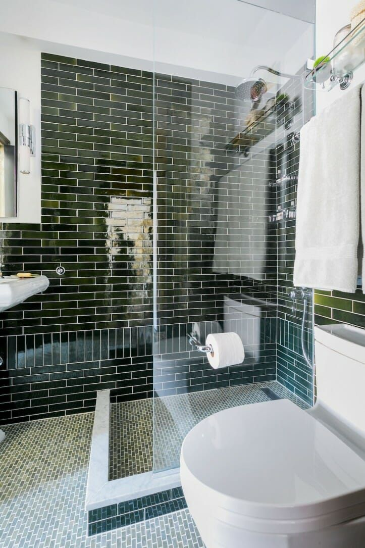 Check Out This Gramercy Park Bathroom Renovation In Nyc Bathroom Remodel Cost Green Bathroom Green Tile Bathroom