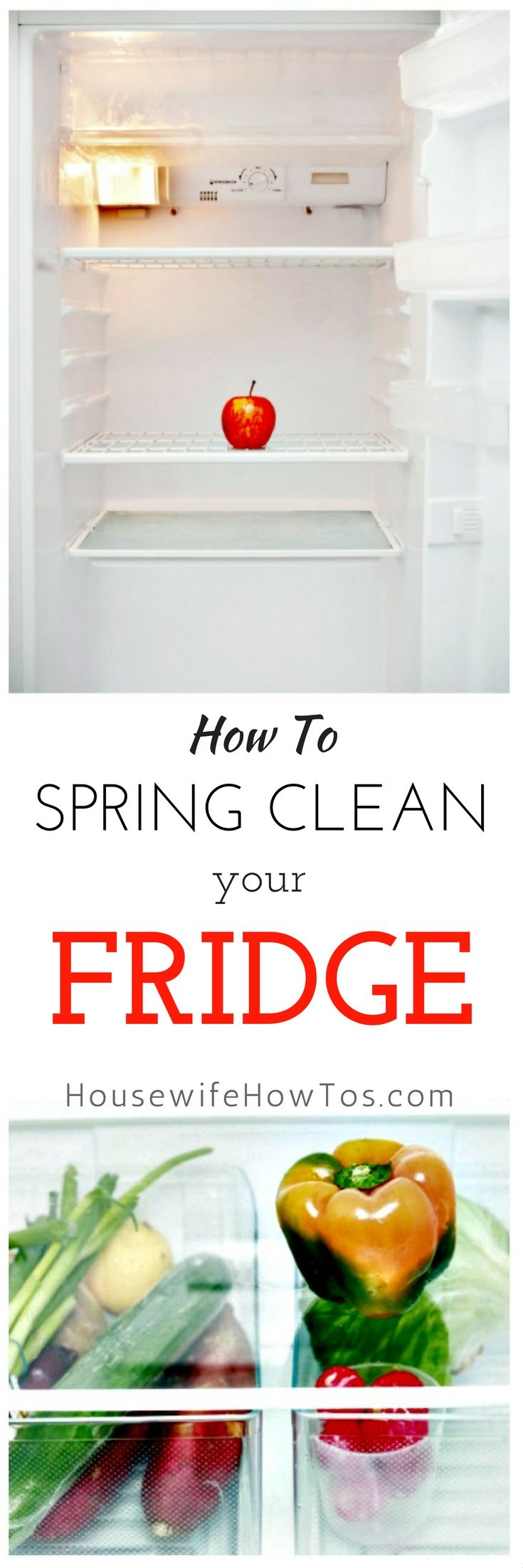 How To Spring Clean A Refrigerator - So clean and it runs better now, too!