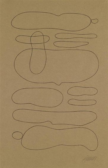 Willi Baumeister, Linienformen Horizontal-abstrakt, 1937