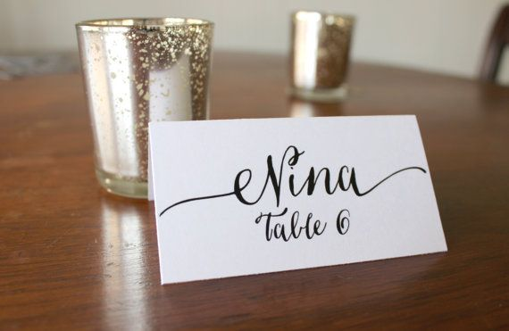Printable Calligraphy Place Cards by EloquentPaper on Etsy