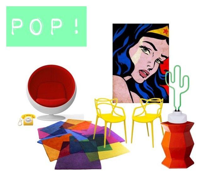 """POP!"" by tarekzg on Polyvore featuring interior, interiors, interior design, hogar, home decor, interior decorating, GPO, Mod y Selamat Designs"