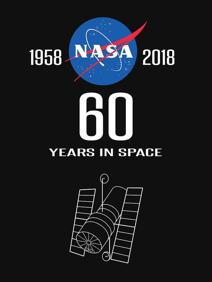 """""""NASA -- 60th Anniversary of Space Exploration"""" by Samuel Sheats on Redbubble. Apparel and merchandise. #nasa #geek #nerd #astronomy #astrophysics #science #space #hubble #jupiter #saturn #mars"""