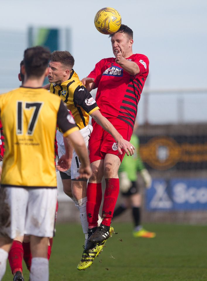 Queen's Park's Adam Cummins in action during the Ladbrokes League One game between East Fife and Queen's Park.