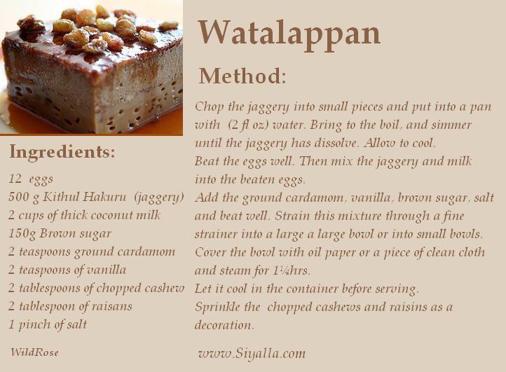 Cake Recipes Sinhala