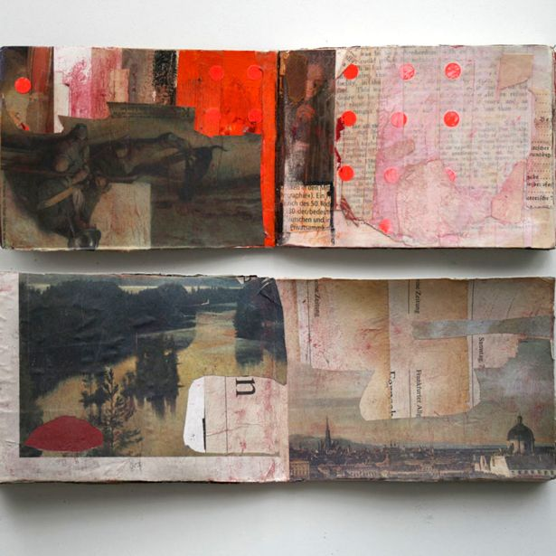 Book by its cover, experimental sketchbook pages