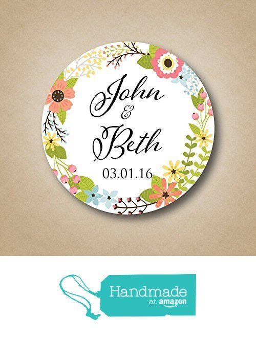 Floral Wedding Favor Stickers from Stick 'em up labels http://www.
