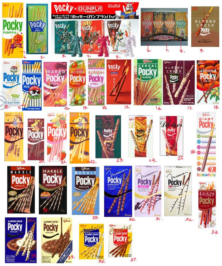 want to try all of this. #pocky