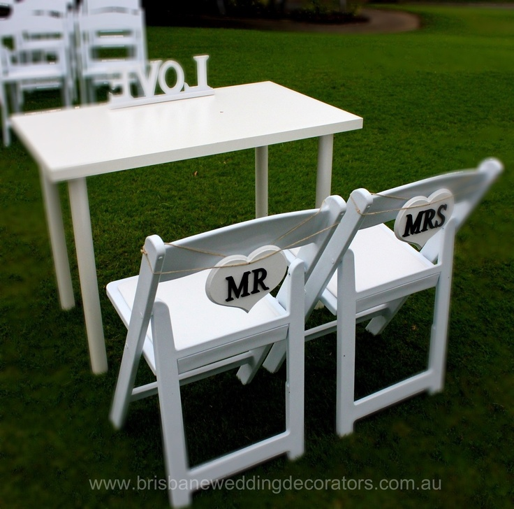 Super cute mr mrs signs for sweet heart table xox www for Table for 6 brisbane