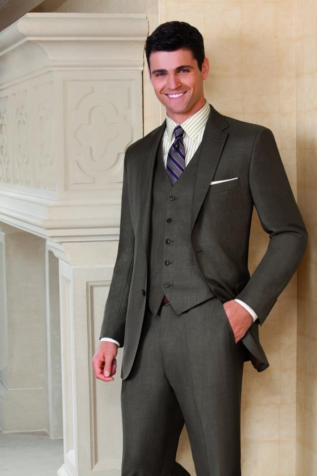 Joseph 2 Button Wool Vested Suit with Plain Front Trousers