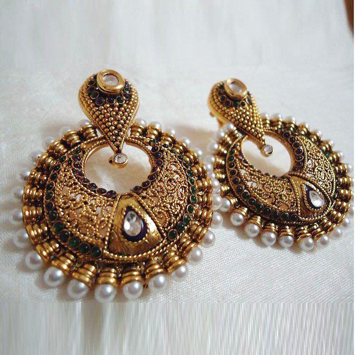 35 best Kundan Earrings images on Pinterest