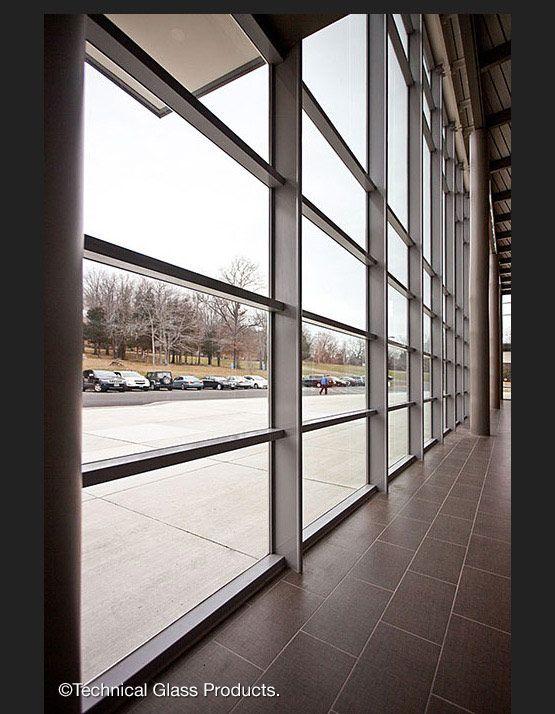 SteelBuilt SG Curtainwall System With Slender Back Mullions. Trumbull High  School, JCJ Architecture.
