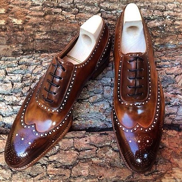 Leather Lace Up Oxfords Shoes