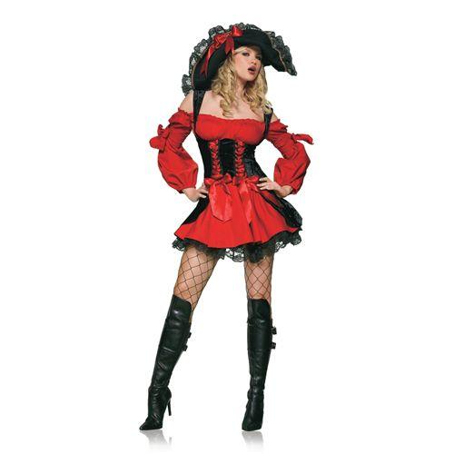 Spannend Piraten Kostuum Rood