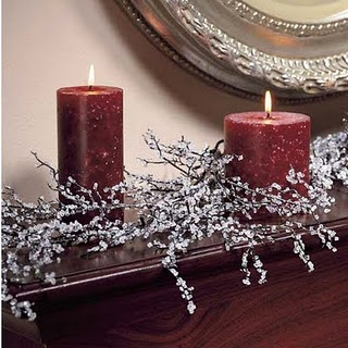 How to make iced branches for centerpieces or holiday mantels