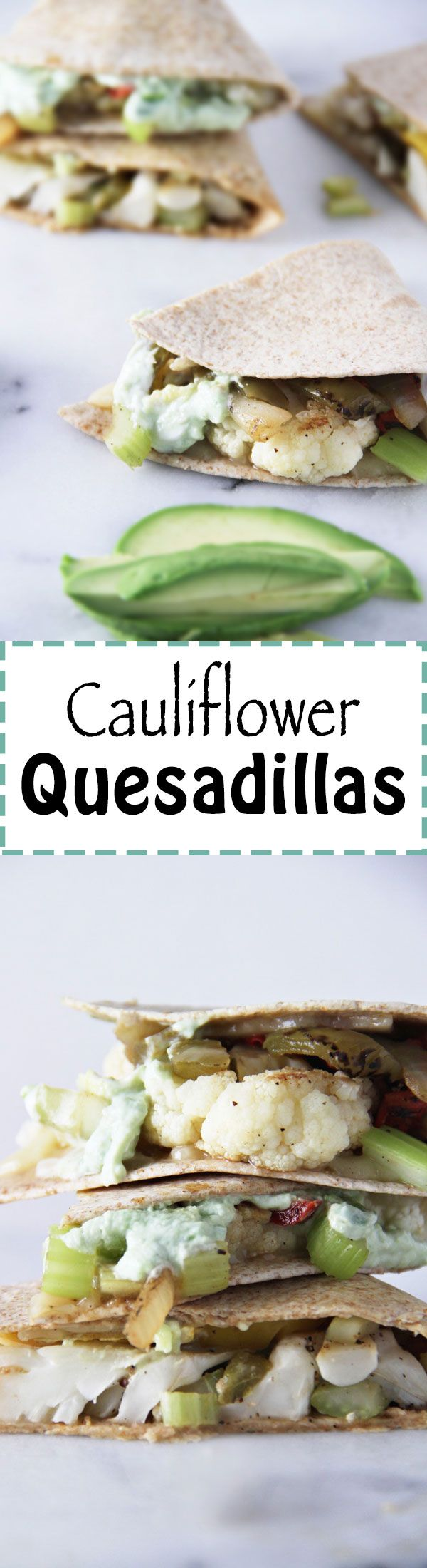 Cauliflower Quesadillas by JarOfLemons.com!