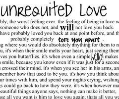 Unrequited love in a relationship