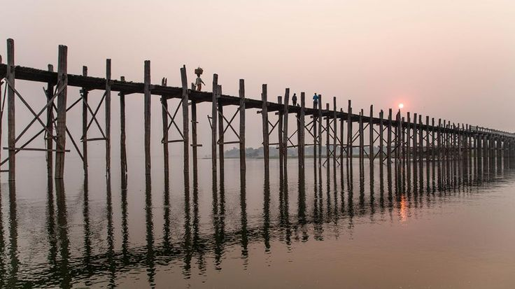 World's Most Terrifying Bridges The U Bein Bridge spans across the Taugthaman Lake in Amarapura, Myanmar. (Flickr/EyeofJ)